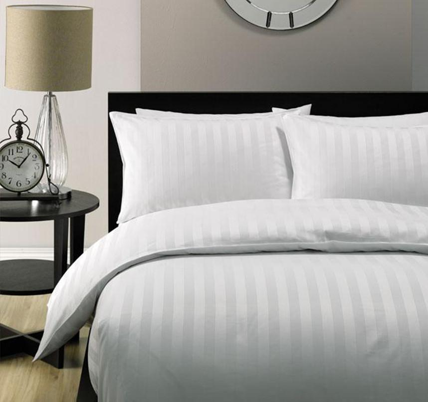 Hilton Hotel Collection Bedding: 5 Star Hotel Quality 2CM STRIPE Luxury Quilt Duvet Cover Set