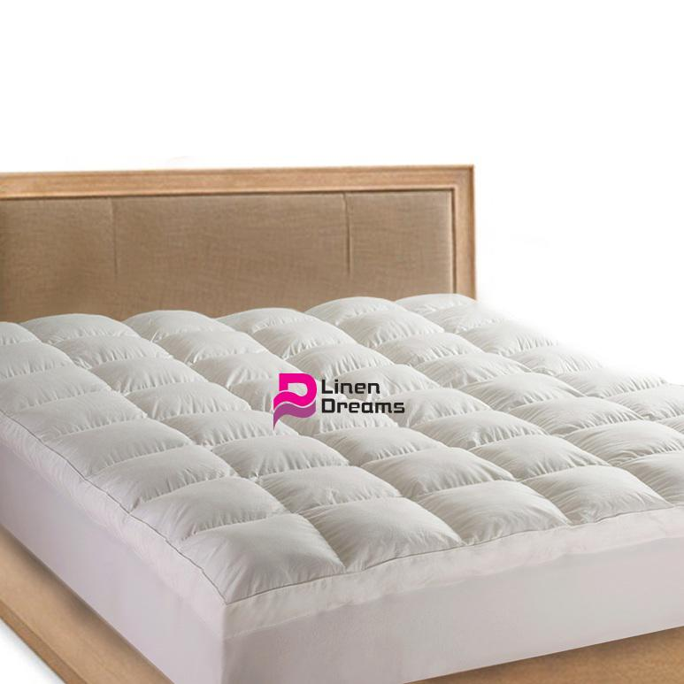 king size luxury pillowtop mattress topper protector 5. Black Bedroom Furniture Sets. Home Design Ideas