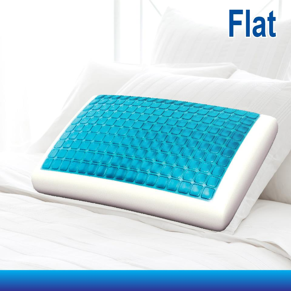 Supreme Quality Memory Foam Cool Soft Gel Top Pillow Flat
