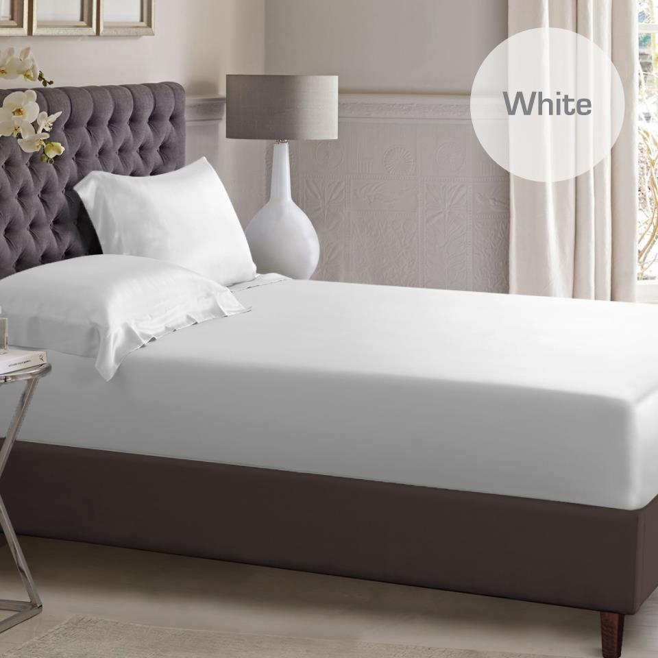 1000tc Silky Satin Single Ks Double Queen King Size Bed