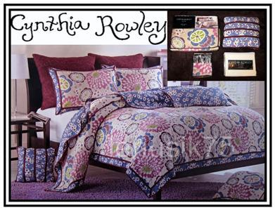 Cynthia Rowley 6 Pc Girl Twin Quilt Set Comforter Sham