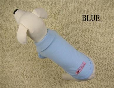 100% Cotton Pet Dog Clothes Apparel Cute POLO T Shirt Size XS S M L