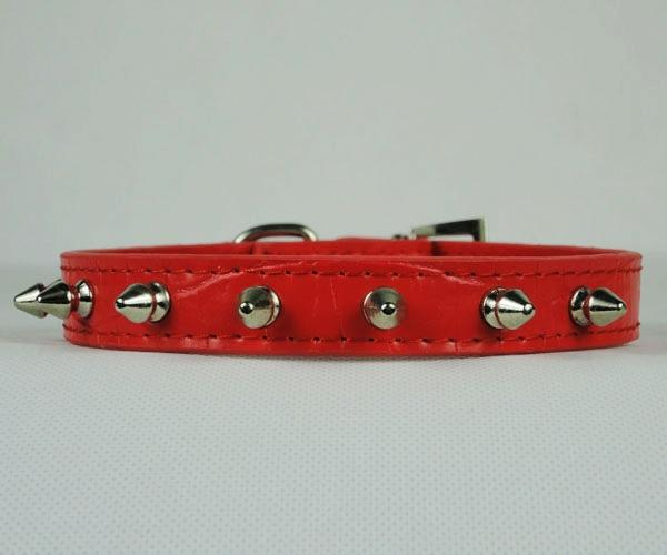 6 Colors Studded PU Leather Spiked Nice Puppy Dog Collar Hot Selling