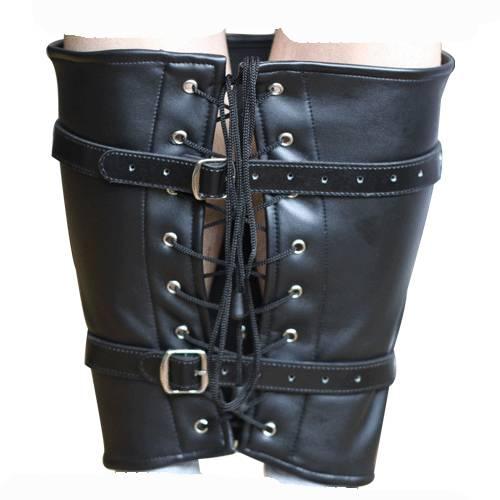 Quality Soft PU Leather Leg Calves Binder Fetish Harness