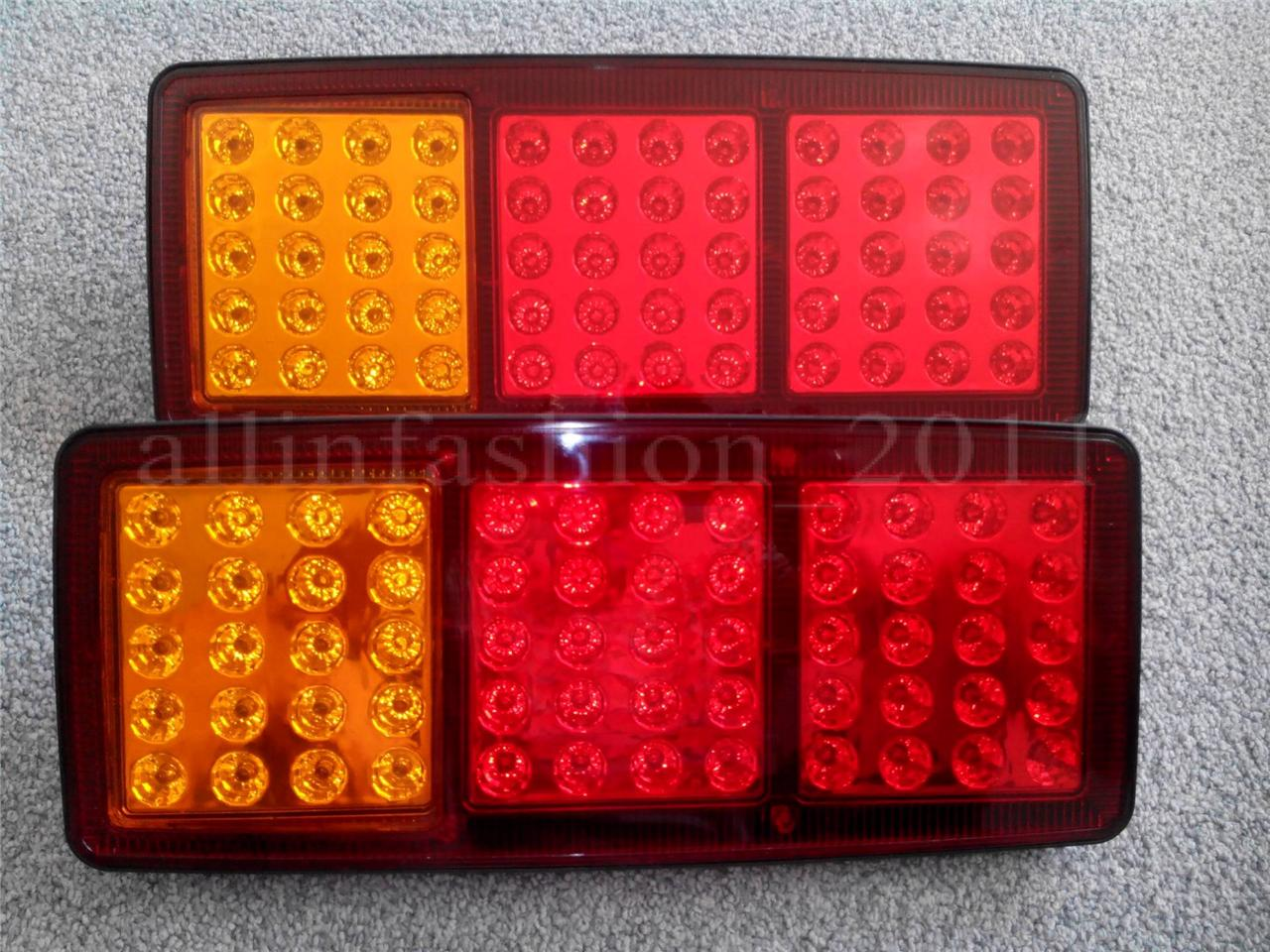 Led Truck Tail Lights >> 2x Led Rear Tail Lights Truck Lorry Camper Trailer Tipper Chassis Van 12v 24v Ebay