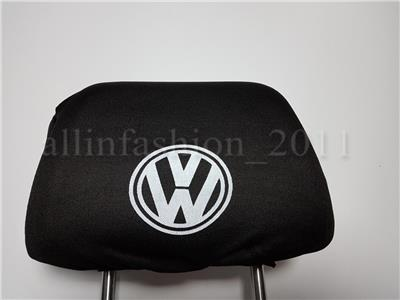 2x White Head Rest Cover fit RENAULT Car Van Pick-up Two Headrest covers pad