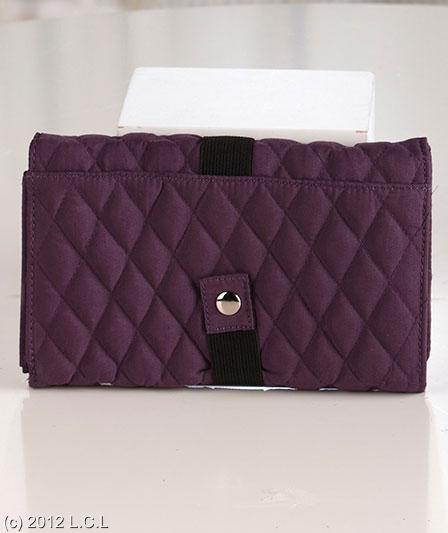 Quilted Coupon Organizer Wallet w 6 Separate Compartments ...