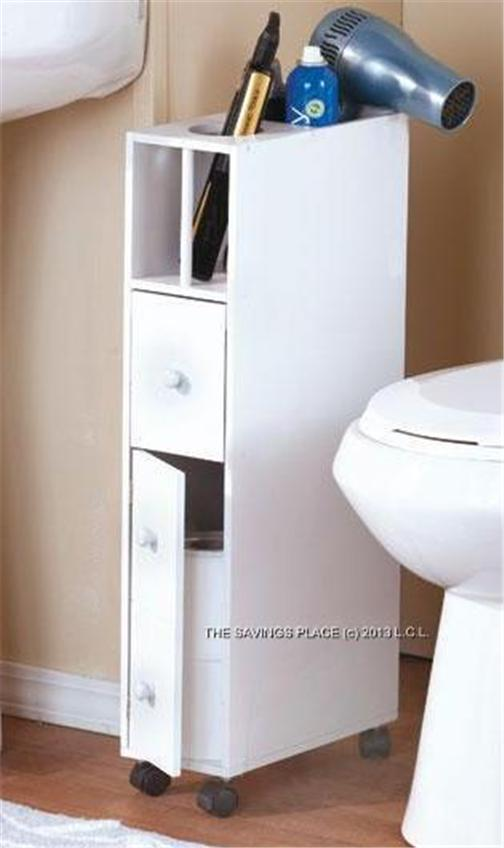 SLIM SPACE-SAVING ROLLING BATHROOM STORAGE ORGANIZER