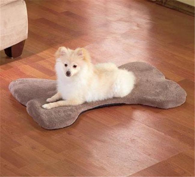 Plush Microfiber Bone Shaped Memory Foam Dog Mat Bed
