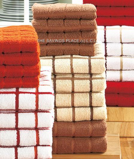 Microfiber Hand Towels: 10 Piece Terry Microfiber Kitchen Hand Dish Towel Set In