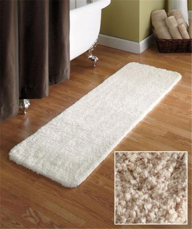 54 Quot Microfiber Plush Bathroom Bath Runner Rug W Nonslip