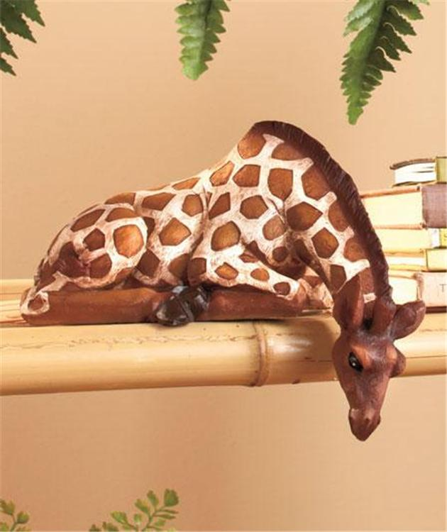 Animal Home Decor: SAFARI ANIMAL DETAILED ZEBRA GIRAFFE DEER SHELF SITTER