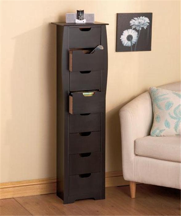 8 drawer wooden bathroom bedroom entryway slim space saving storage cabinet unit ebay. Black Bedroom Furniture Sets. Home Design Ideas