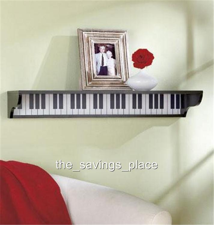 WOODEN MUSICAL THEMED PIANO GUITAR MUSICAL NOTES WALL