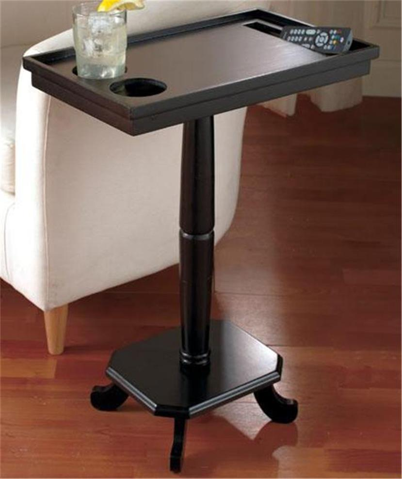 Home Entertainment Side Pedestal Accent Table W Cup