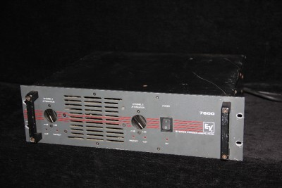 ev 7600 amplifier amp 1200 watt power clean sound band ebay. Black Bedroom Furniture Sets. Home Design Ideas