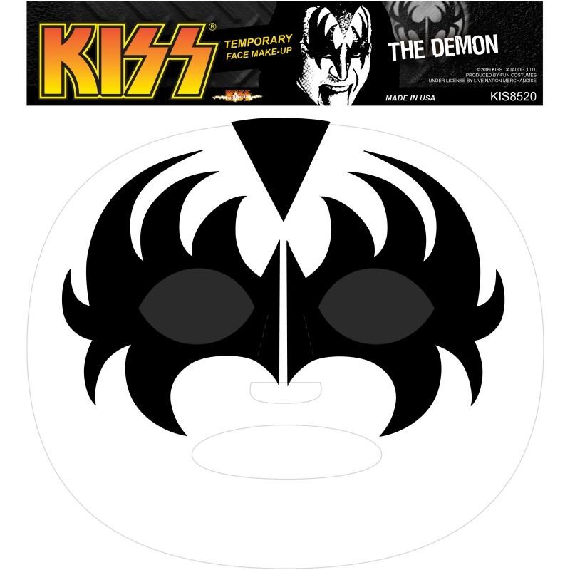 kiss mask template - kiss temporary face makeup tattoo demon or starchild ebay