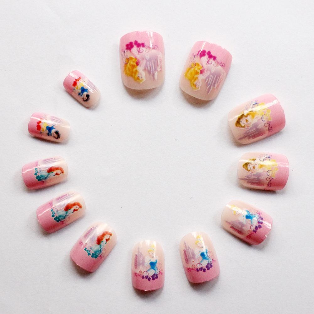 Kids DIY Decorative Fairtale Cute False Nails Art Full ...