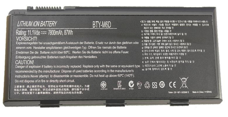 Genuine 73Wh 9cells BTY-M6D battery for MSI GT70 GT780 GT60 GT680R GT683R GT685R