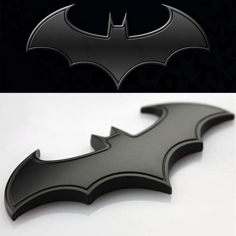 Auto Motorrad Aufkleber 3D Metall Batman Flügel Devil Chrom Emblem ...