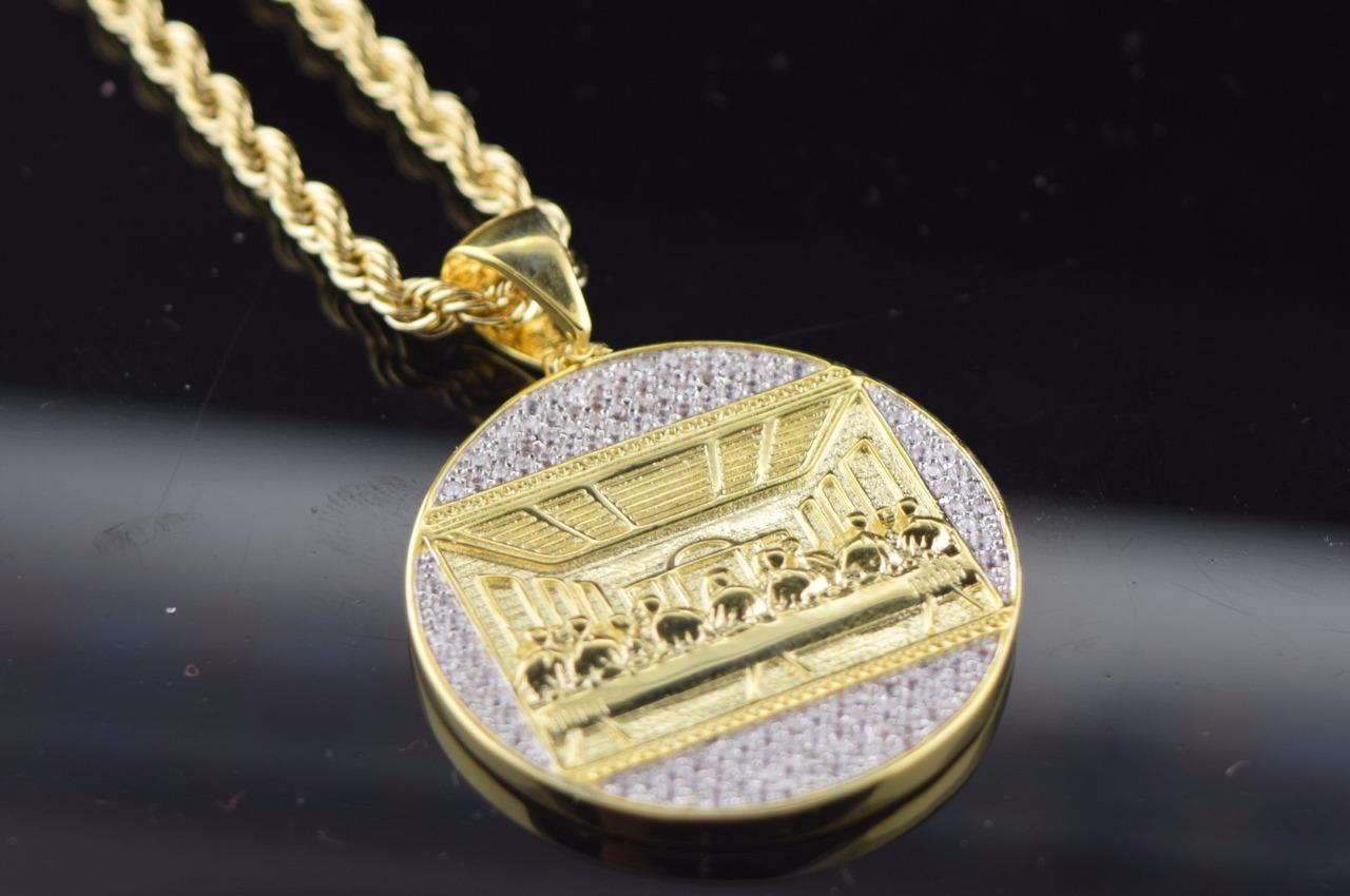 diamond yellow ct real men mens s charm pnd iced medallion gold pendant