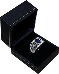 Men S 2 51 Cts Genuine Diamond Amp Star Sapphire Ring