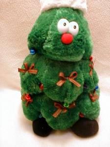 "Singing Lighted Animated CHRISTMAS TREE 15"" Plush Rockin ..."