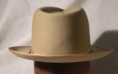 de8fe66a7ab Vintage Stetson Fedora Open Road Hat 3X Beaver Camel Color Size 7 1 ...