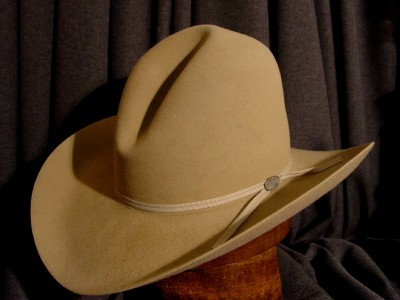 69657b7eaedff Beaver Gus Crease Tom Mix Style Cowboy Hat Sand Color 5X Size 7 on ...