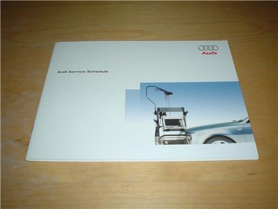 Audi A6 Service Book Se Executive Ultra Sport S6 Rs6 Not Owners Handbook Manual Ebay