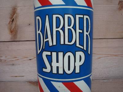 3D BARBER SHOP Pole Sign Vintage Style Flat-Top Shave Gas ...