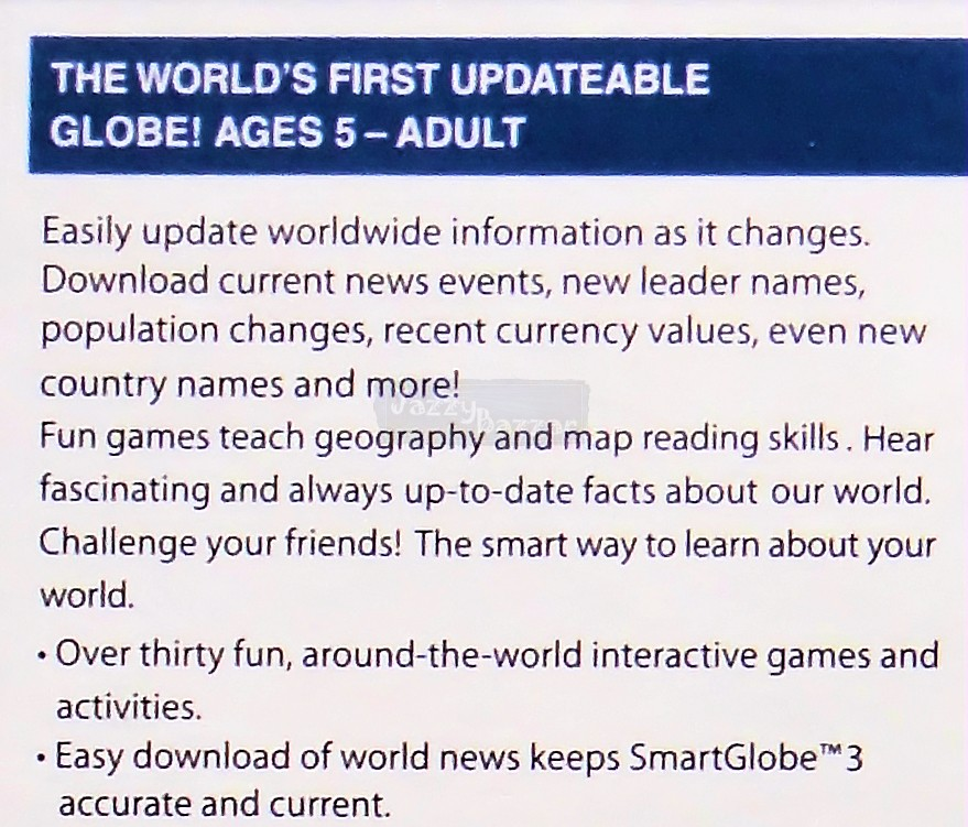 Internet Updatable Kids World GEOGRAPHY EDUCATIONAL School Toy NEW