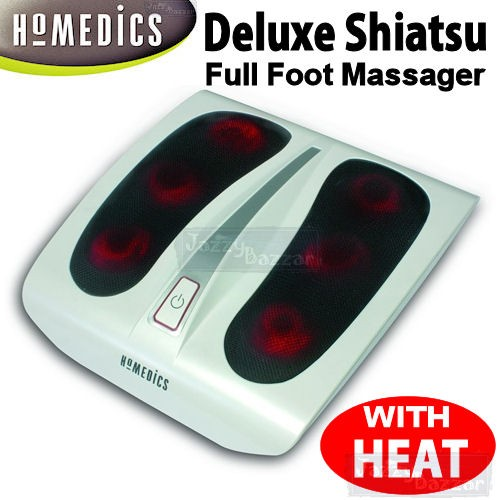 Homedics Shiatsu Foot Massager Deep Kneading Heat Massage Pain Stress