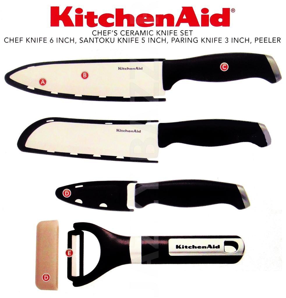 Kitchenaid Ceramic Knife Set Chef S Blade Peeler Kitchen