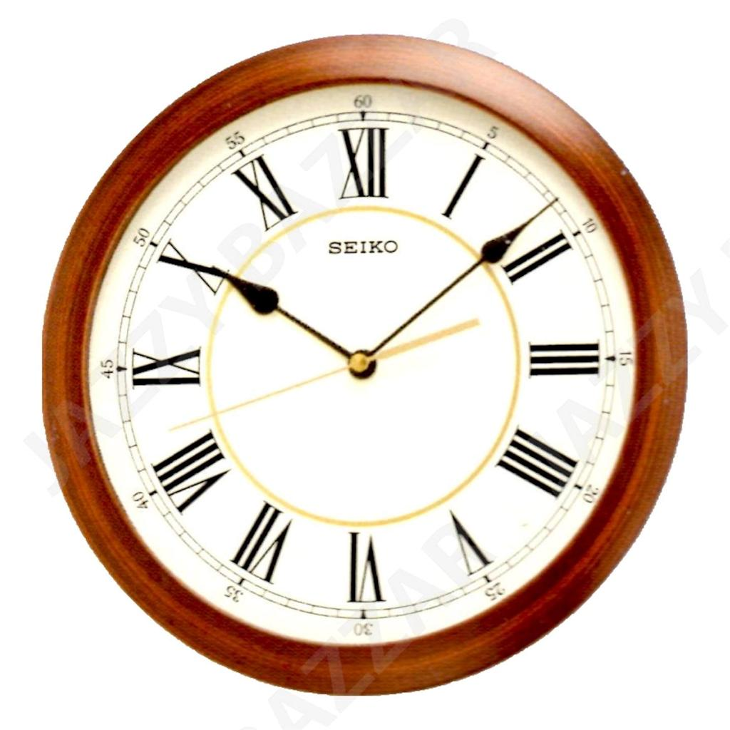 Seiko Wall Clock Wood Effect Qxa597a Quiet Sweep Seconds