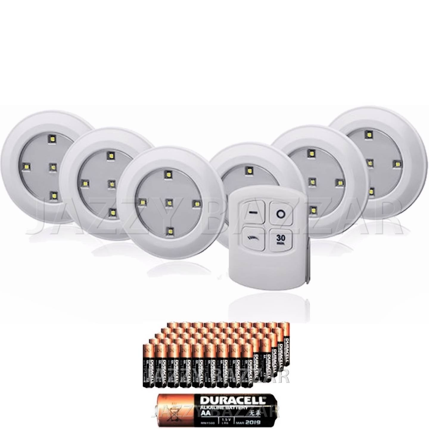6 X White Under Cabinet Lights Led Wireless With Remote