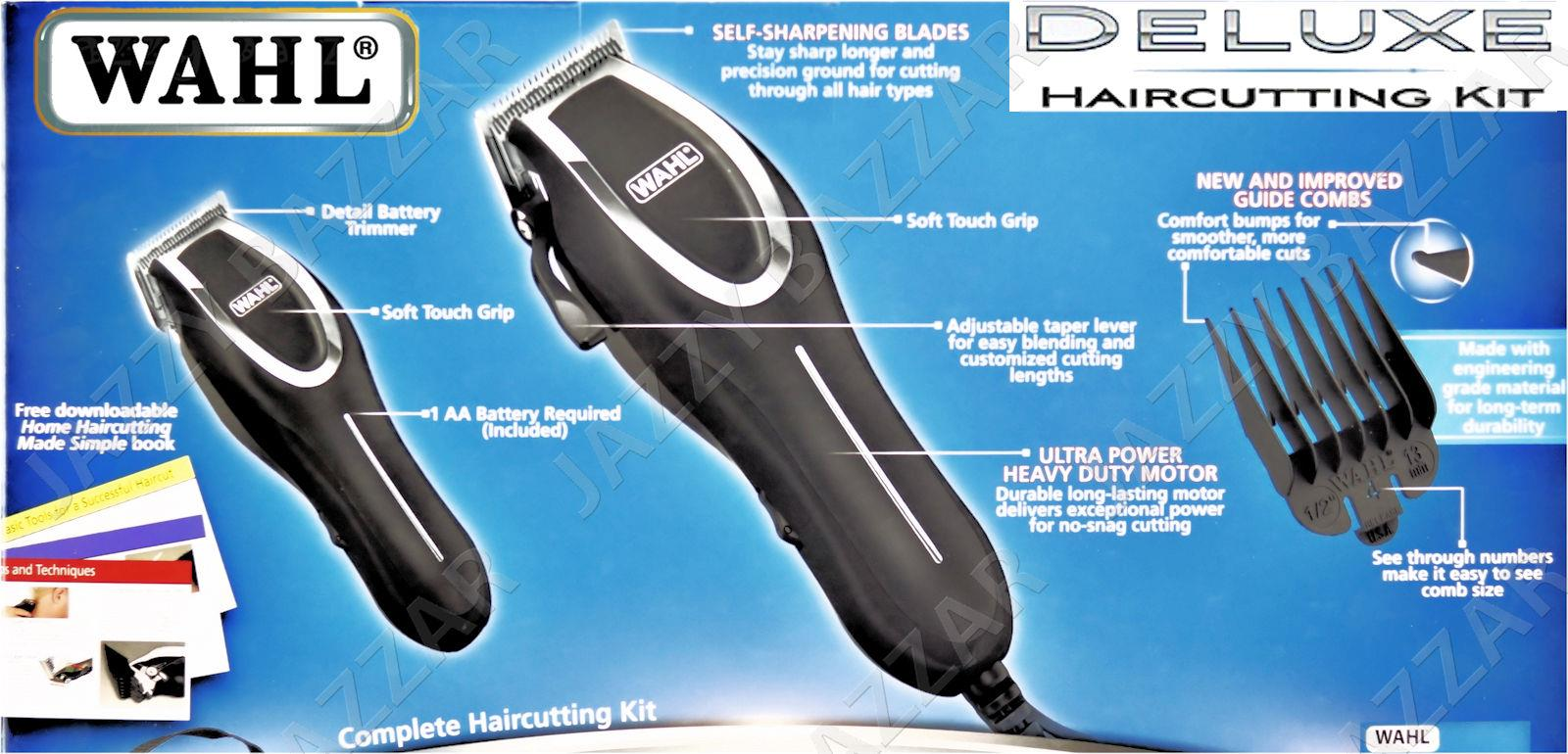wahl haircutting kit wahl deluxe hair clippers trimmer shears 23 pc 1565