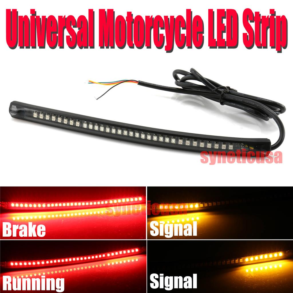Details about universal motorcycle light strip tail brake stop turn signal 32led 8 flexible store categories aloadofball Gallery
