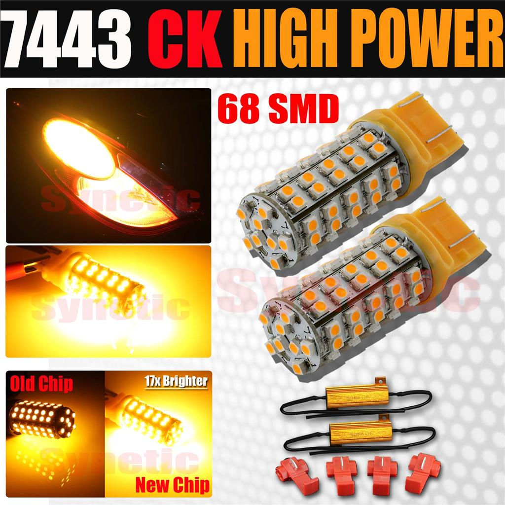 Car  U0026 Truck Light Bulbs 2x Turn Signal Light Amber Yellow 3457a 3157 Led Bulbs For 99