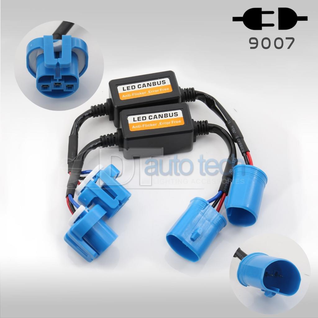 2x CANBUS Headlight Load Resistor 9007 LED Error Code Free Canceller Decoder