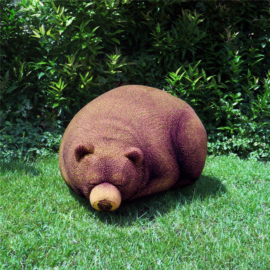 Details about Sleeping Grizzly Bear Cub Bean Bag Chair Knitted Design Home  Decor f1e1697d2d46