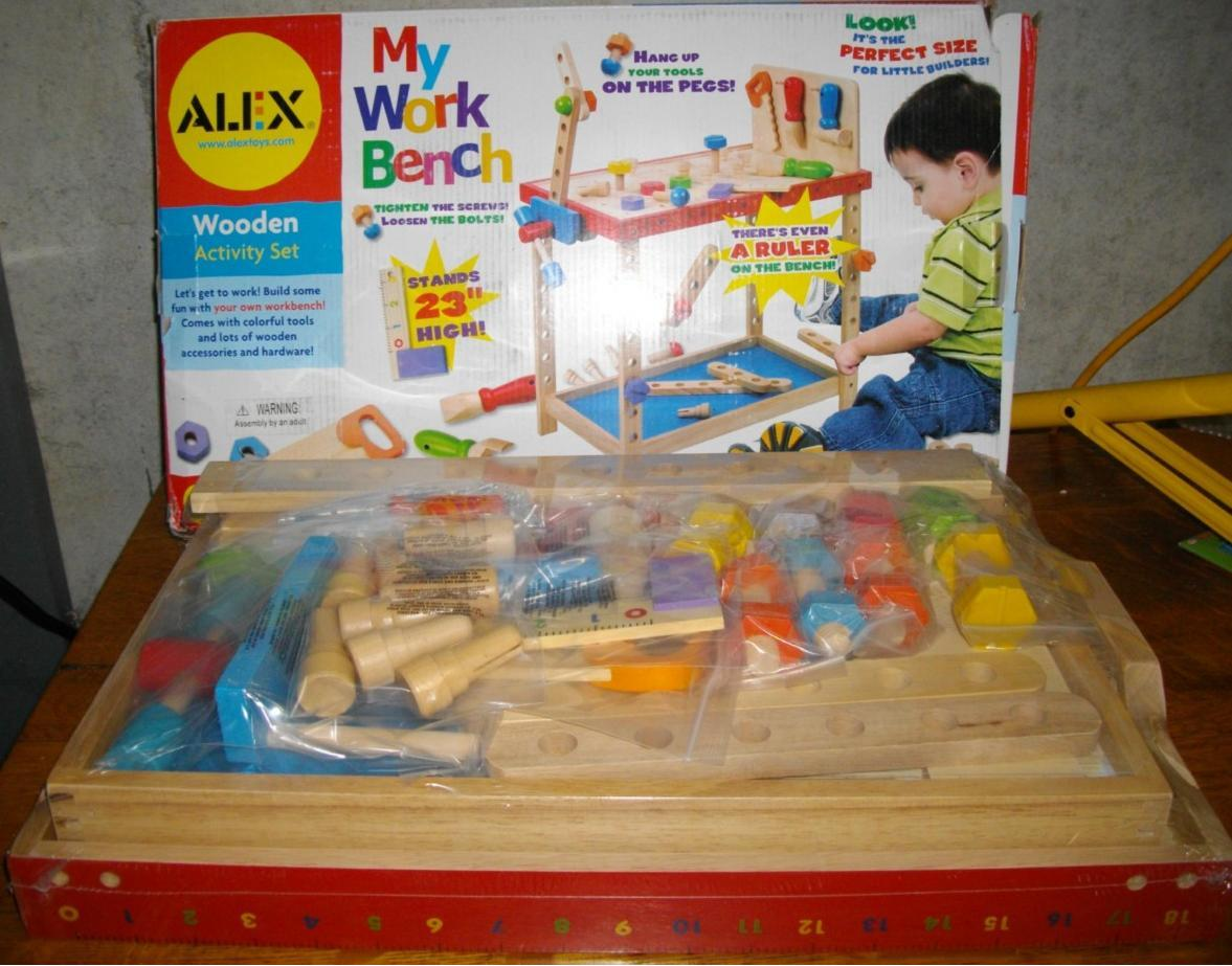 Alex Toys My Work Bench Wood Wooden Toy Carpenter Tools