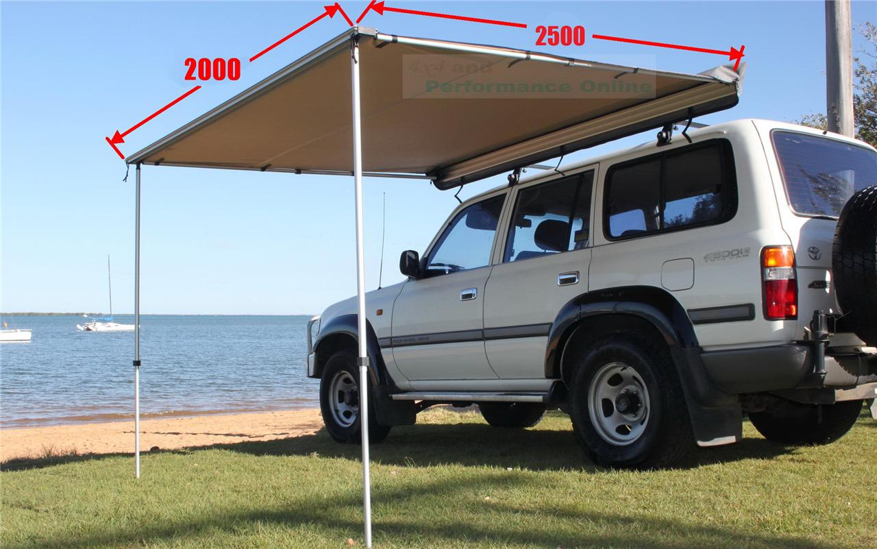 New 2.0x2.5m COOL~FLO 4x4 Roof Side AWNING Pullout Ripstop ...
