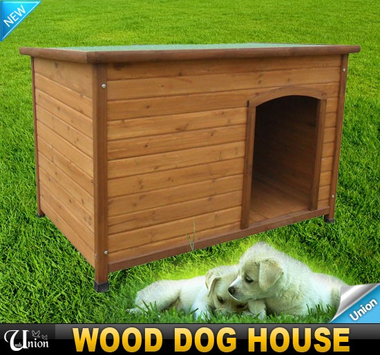 Sv Mall New Outdoor Large Wooden Pet Dog House Natural