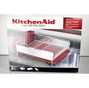 brand new kitchenaid stainless steel dish drying rack red. Black Bedroom Furniture Sets. Home Design Ideas