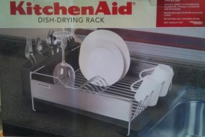 brand new kitchenaid stainless steel dish drying rack black ebay. Black Bedroom Furniture Sets. Home Design Ideas