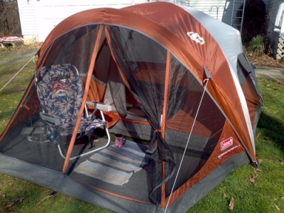 Coleman 4 Person Evanston Tent With Screened Porch Canopy