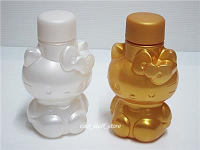 2 x NEW TUPPERWARE Hello Kitty Eco Bottle Wasserflasche 425ml Gold ...