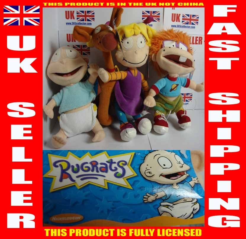 RUGRATS SOFT TOY - SPIKE Or TOMMY Or FULL SET RUG RATS