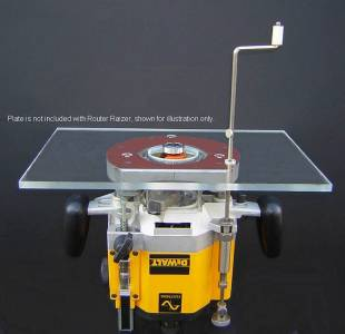 Router lift router table height adjustment raiser raizer plunge use this to make your router table with plunge router adjust from the top of the table which saves time and hassle keyboard keysfo Choice Image